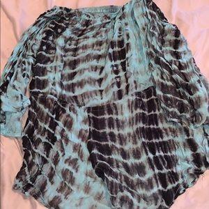 Fashion Nova Blue Tie Dye Romper🦋🖤